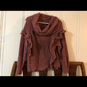 Express Sweaters - Blush colored express cowl neck sweater